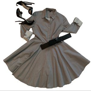 Black and White Express Dress